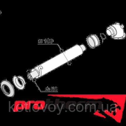 Коаксиальный комплект Protherm и Saunier Duval (удлинительный участок 1м 60/100мм + колено 60/100мм), фото 2