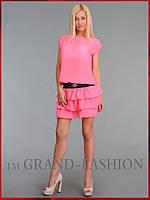 Платье ~Frill-Шифон~ розовый