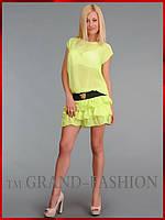 Платье ~Frill-Шифон~ желтый