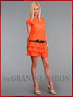 Платье ~Frill-Шифон~ оранжевый