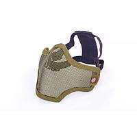 Маска защитная пол-лица из стальной сетки для пейнтбола