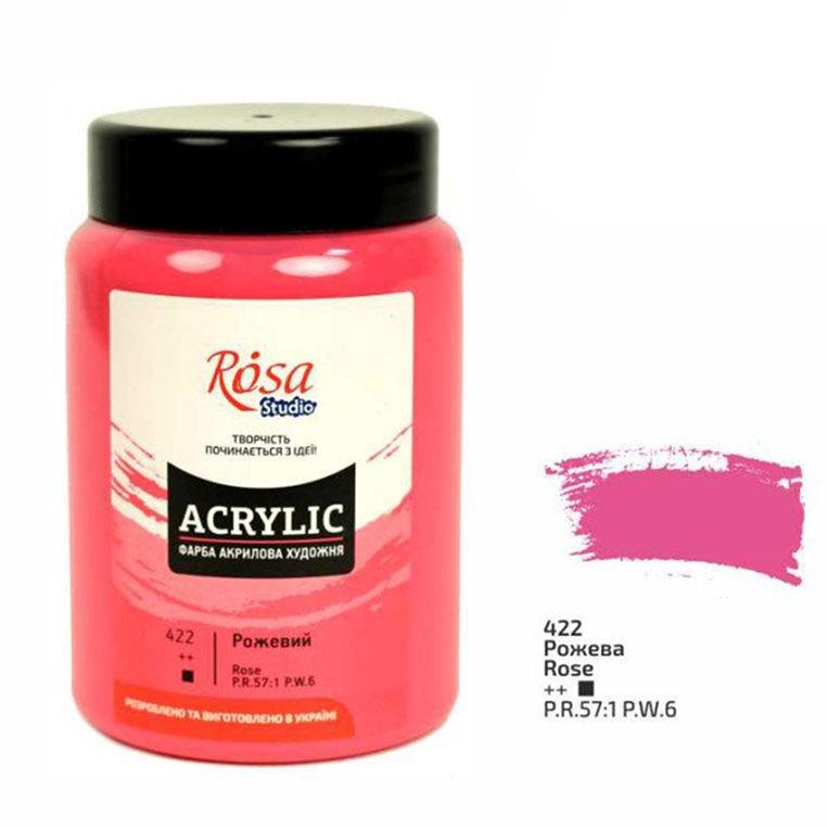 Краска акриловая  Rosa Studio 400мл 3224194**_розовый (422)