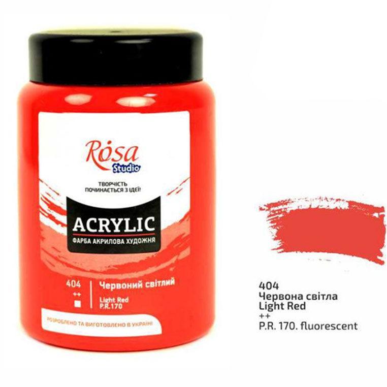 Краска акриловая  Rosa Studio 400мл 3224194**_красный светлый (404)