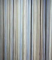 Шторы нити Лапша Радуга №1+7+11 (белый +серебряный+голубой)