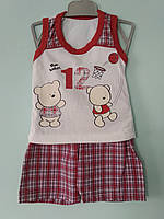 Майка и шорты хлопок для мальчика 6-12 мес.