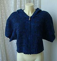 Кофта женская теплая модная капюшон осень зима бренд E-vie р.48-50
