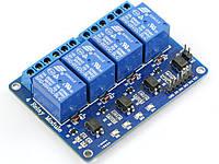 Модуль реле 4 канала 5v испол. 250V 10A