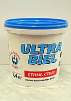 Матовая краска для стен и потолков Ultra –Biel ( Ультра белая) Sniezka 1,4  кг
