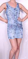 Джинсовое легкое платье Турция, фото 1