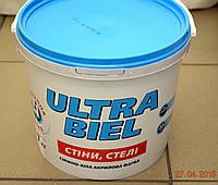 Матовая краска для стен и потолков Ultra –Biel ( Ультра белая) Sniezka 7  кг