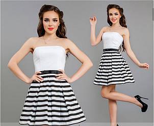 Платье .с юбкой в полоску , фото 2
