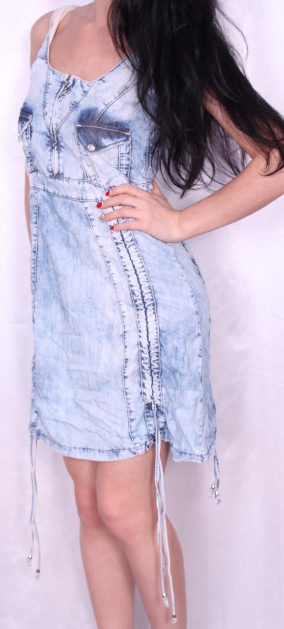 Модное джинсовое легкое платье Турция