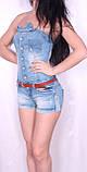 Легкий джинсовый комбинезон с шортами., фото 2