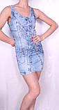 Джинсовое легкое платье Турция, фото 4