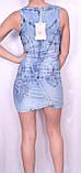 Джинсовое легкое платье Турция, фото 7