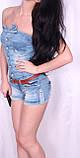 Легкий джинсовый комбинезон с шортами., фото 3