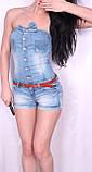 Легкий джинсовый комбинезон с шортами., фото 4
