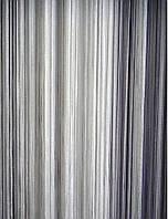 Шторы нити Лапша Радуга № 1+7+9  (белый+серебряный+черный), фото 1