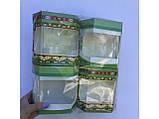 Коробка из тонкого картона шестигранная мала с окошком , под орхидею, фото 2