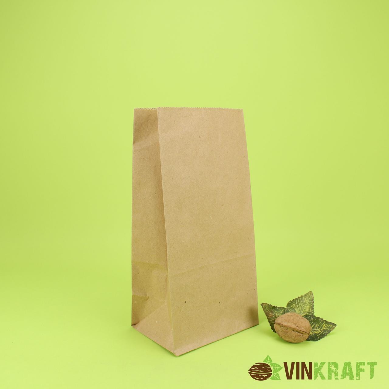 Паперовий пакет з дном 110*60*260 (80 г/м2), крафт