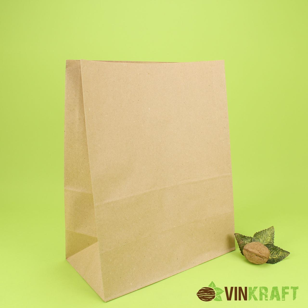 Паперовий пакет з дном 330*160*350 (70 г/м2), крафт