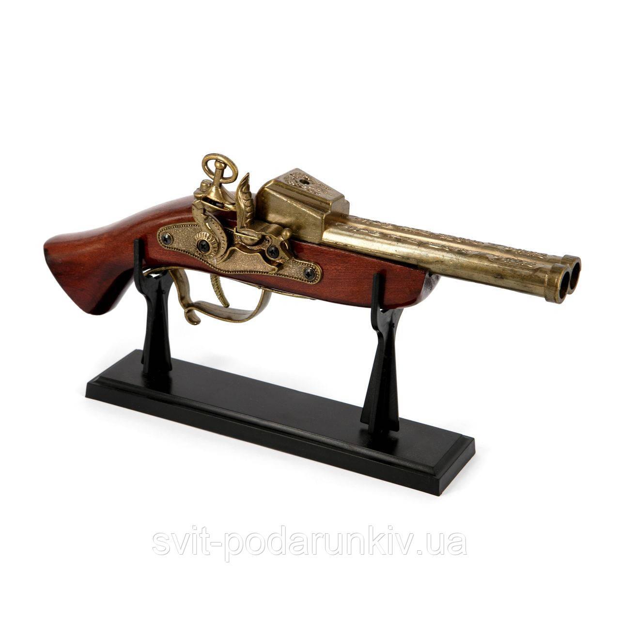 Пистолет зажигалка старинный мушкет 1818