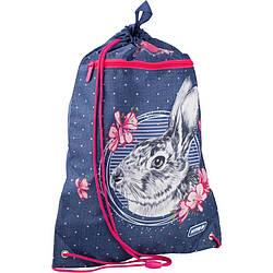 Сумка для обуви с карманом Kite Education Fluffy bunny k19-601m-3