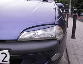 Реснички (накладки на фары) Opel Tigra (абс-пластик)