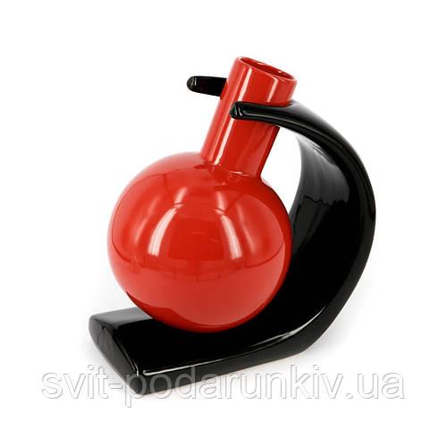 Круглая ваза наклонённая, не стандартно закрепленная, для  декора S002
