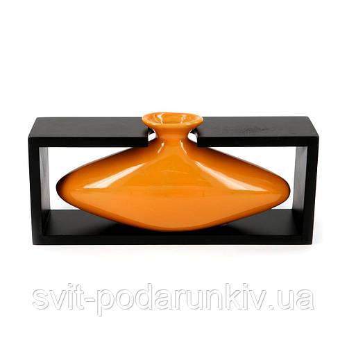 Керамическая ваза для цветов необычная оранжевая окраска S008-3