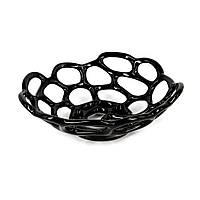 Ваза под фрукты черная для декора в стиле хай-тек S898-3