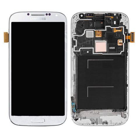 LCD экран+тачскрин Tina Samsung Galaxy S4 I9500 (2013) (TFT) с рамкой, фото 2
