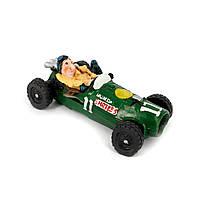 Копилка 3F8181 гонщик на ретро автомобиле зеленый