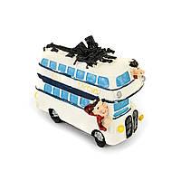 Копилка XF006, XF005, 3F8216, 3F8217 туристы на автобусе 4 модели