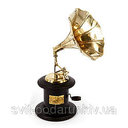 Золотой граммофон сувенир в подарок музыканту и певцу AF144J