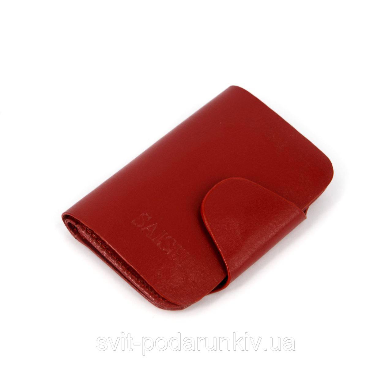 Ключница карманная кожзаменитель №3 красная