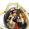 Старинный глобус из полудрагоценных камней на золотистых ножках CLS110, фото 3
