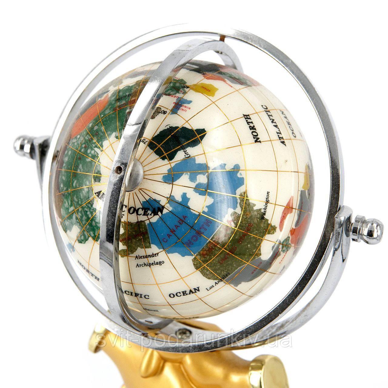 глобус-часы с термометром и гигрометром