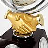 """Глобус-часы с термометром и гигрометром """"Рукопожатие"""" XLS616А, фото 4"""
