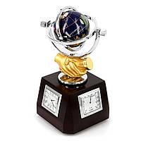 Сувенирный глобус с часами, гигрометром и термометром XLS616В