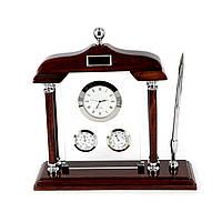 Настольный набор руководителя - термометр гигрометр и часы PWS8130