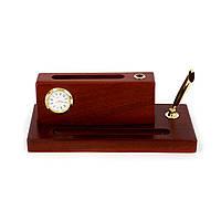 Настольный набор часы подставка для визиток DS941101