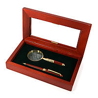 Подарочный набор: офисная шариковая ручка и карманная лупа для чтения Albero Ode 73S269BG