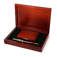Подарочный набор: шариковая ручка и карманная визитница Albero Ode 83S01