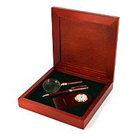 Настольный набор директора: подарочная ручка, часы и карманная лупа Albero Ode 90S03