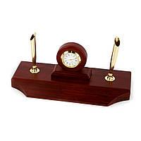 Набор руководителя на стол с часами и двумя ячейками для ручек DS775101