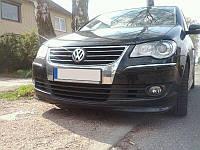 Накладка переднего бампера VW Touran рестайл.