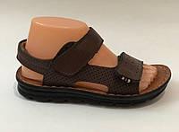 Кожаные сандали для мальчика, Коричневый