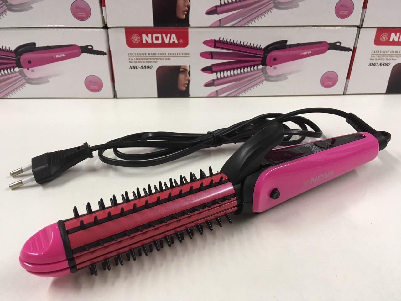 Утюжок для волос NOVA NHC-8890, 3в1