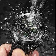 Мужские водонепроницаемые часы AMST 3003 Black чёрные